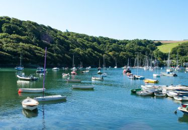 Noss Mayo on the estuary of the river yealm in devon