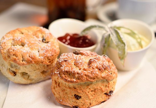 Fresh Cream Tea with Home Cooked Scones